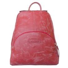 Женский кожаный рюкзак Estense red (арт. 3014-09)