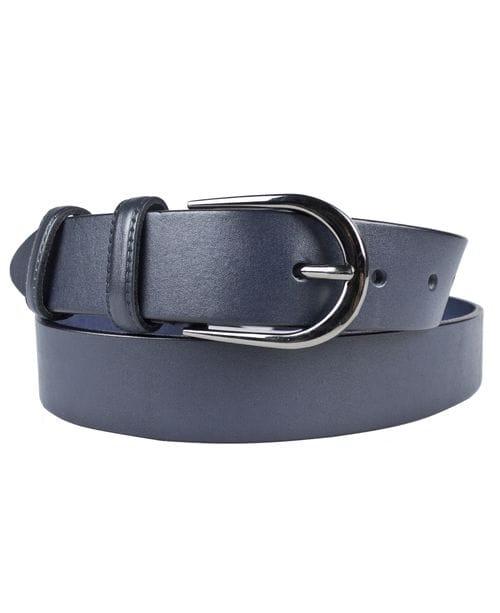 Кожаный ремень Afrile dark blue (арт. 9016-19)
