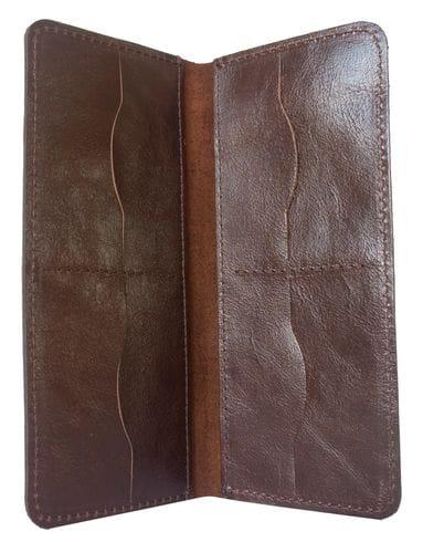 Кожаное портмоне Cesolo brown (арт. 7403-02)