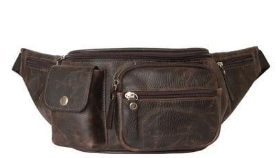 Кожаная поясная сумка Settimo brown (арт. 7002-04)