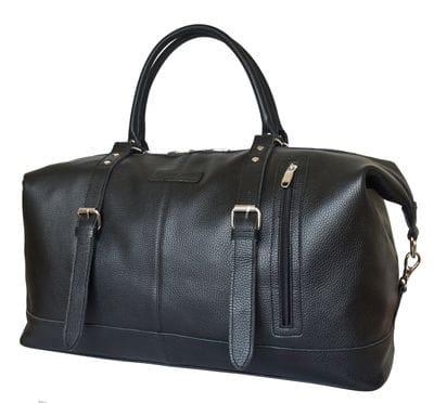 Кожаная дорожная сумка Campora black (арт. 4019-01)