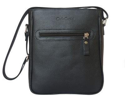 Кожаная мужская сумка Montedale black (арт. 5028-01)