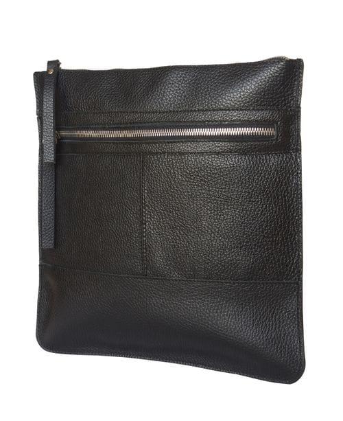 Кожаная мужская сумка Valbona black (арт. 5022-01)