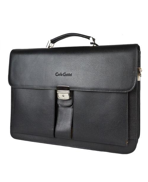Кожаный портфель Bulciano black (арт. 2026-30)