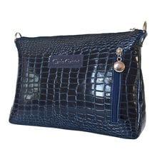 Кожаная женская сумка Lavello dark blue (арт. 8005-19)