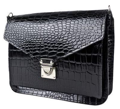 Кожаная женская сумка Vicentina black (арт. 8038-01)