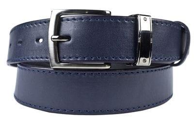 Кожаный ремень Fastello blue (арт. 9045-19)