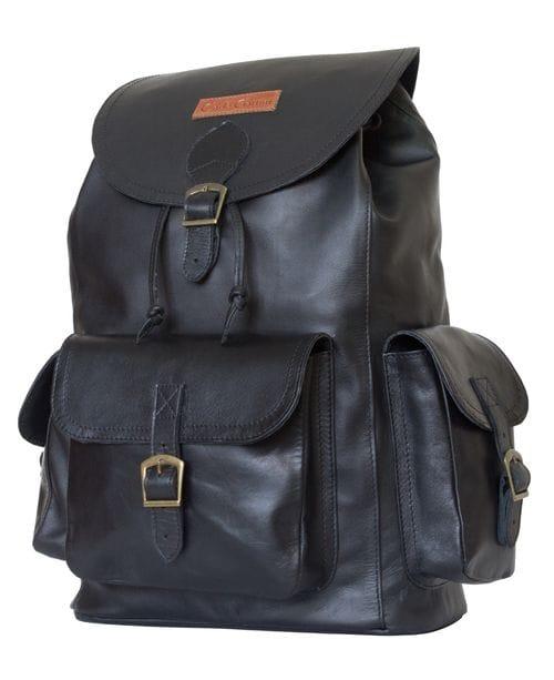 Кожаный рюкзак Verres black (арт. 3016-01)