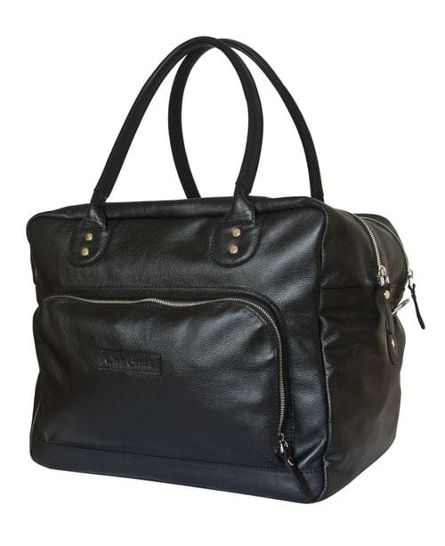 Кожаная дорожная сумка Oris black (арт. 4020-01)