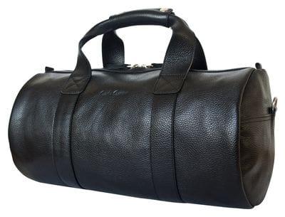 Кожаная дорожная сумка Dossolo black (арт. 4017-01)