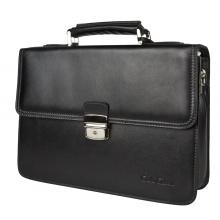 Кожаный портфель Biforco black (арт. 2027-30)