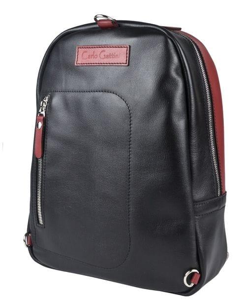Кожаный рюкзак Albera black/red (арт. 3055-01)