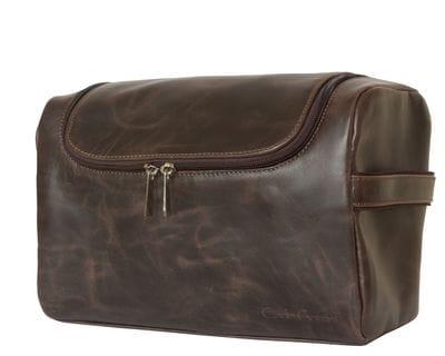 Кожаный несессер Rivalta brown (арт. 6001-02)