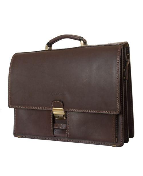 Кожаный портфель Luriano brown (арт. 2009-31)