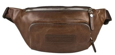 Кожаная поясная сумка Scarlino brown (арт. 7018-04)