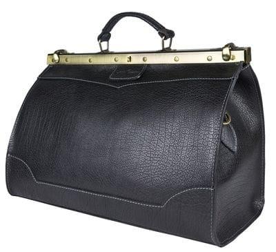 Кожаный саквояж Montorio black (арт. 4029-81)