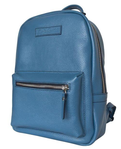 Женский кожаный рюкзак Anzolla blue (арт. 3040-07)
