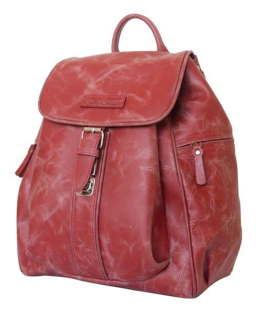 Женский кожаный рюкзак Aventino red (арт. 3008-09)