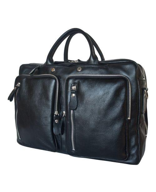Кожаная сумка-рюкзак Ferrone black (арт. 3063-01)