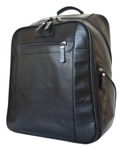 Кожаный рюкзак Cossira black (арт. 3048-01)