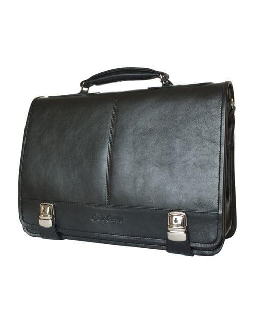 Кожаный портфель Arietta black (арт. 2018-01)