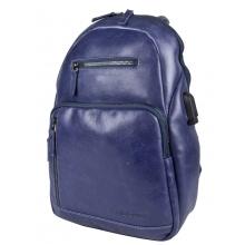 Кожаный рюкзак Busso blue (арт. 3093-07)