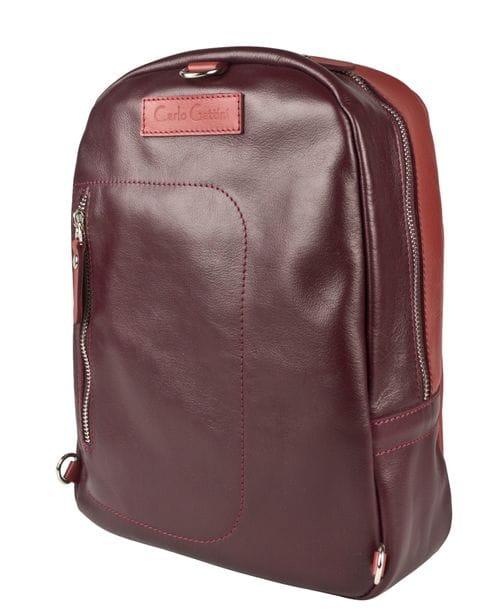 Кожаный рюкзак Albera burgundy/red (арт. 3055-09)