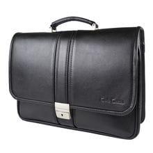 Кожаный портфель Corinaldo black (арт. 2032-01)