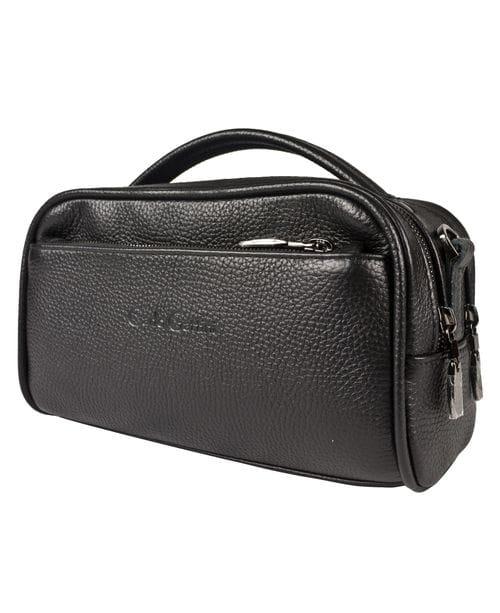Кожаная женская сумка Luna black (арт. 8030-01)