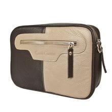 Кожаная женская сумка Melotta biege/brown (арт. 8016-04)