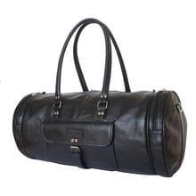 Кожаная дорожная сумка Belforte black (арт. 4011-01)