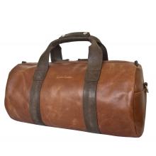 Кожаная дорожная сумка Dossolo cog/brown (арт. 4017-03)