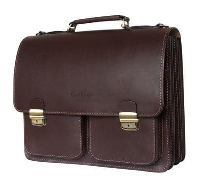 Кожаный портфель Fraccano brown (арт. 2003-31)