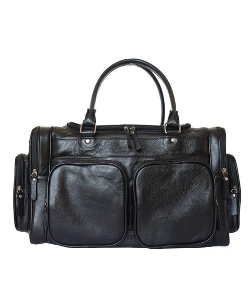 Кожаная дорожная сумка Bufaloro black (арт. 4012-01)