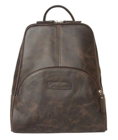 Женский кожаный рюкзак Estense brown (арт. 3014-02)