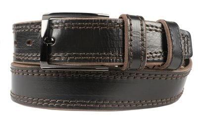 Кожаный ремень Bertoldi black (арт. 9032-01)