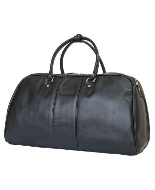 Кожаная дорожная сумка Normanno black (арт. 4007-01)