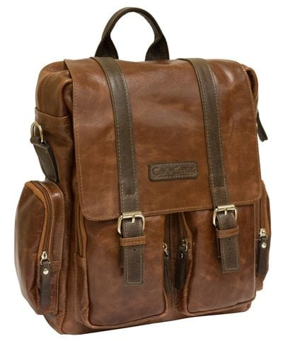 Кожаный рюкзак-сумка Fiorentino cognac/brown (арт. 3003-08)