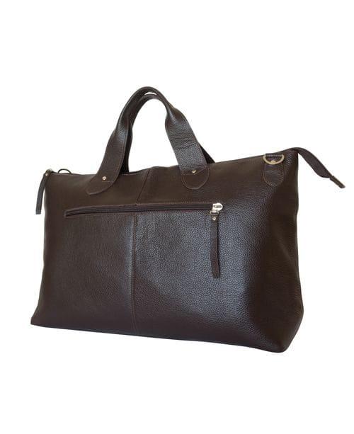 Кожаная дорожная сумка Cassolo brown (арт. 4002-04)