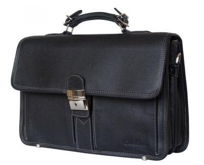 Кожаный портфель Feudo black (арт. 2014-01)