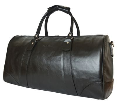 Кожаная дорожная сумка Gallinaro black (арт. 4026-01)