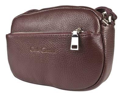 Кожаная женская сумка Cristina burgundy (арт. 8032-09)