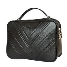 Кожаная женская сумка Prastia black (арт. 8013-01)