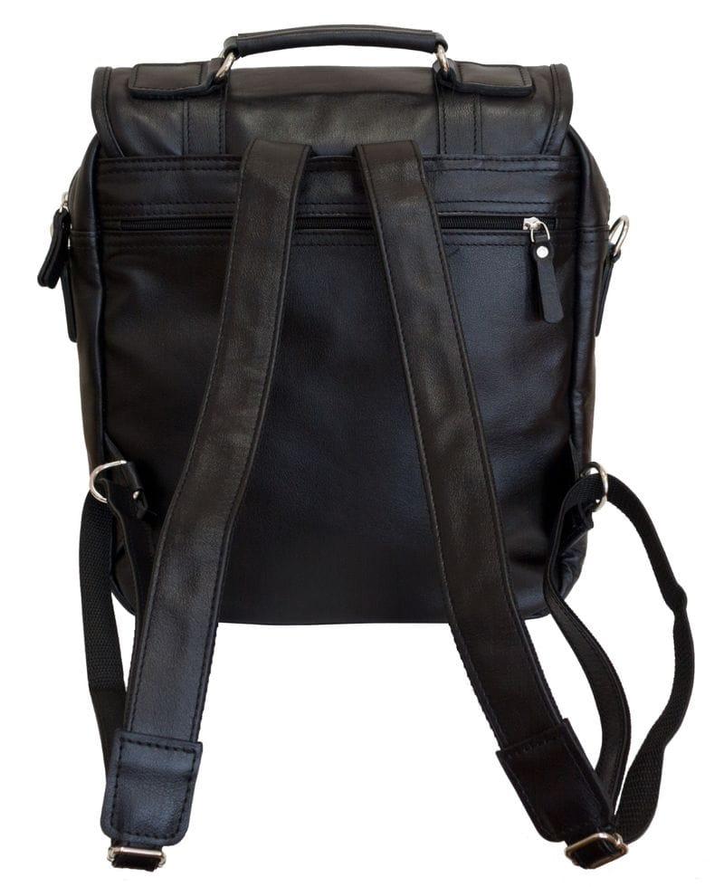f7915c192746 Купить Кожаная сумка-рюкзак Tronto black (арт. 3005-01) в Москве ...
