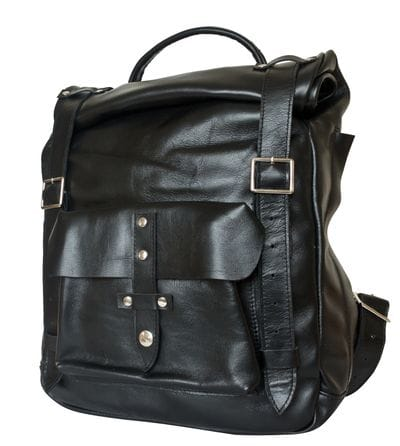 Кожаный рюкзак Tassulo black (арт. 3058-01)