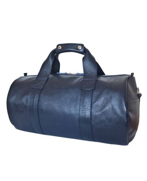 Кожаная дорожная сумка Dossolo dark blue (арт. 4017-19)