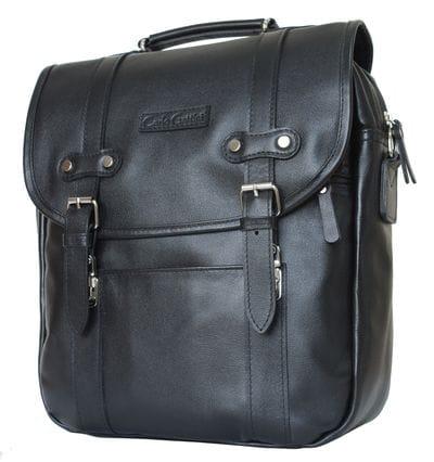 Кожаная сумка-рюкзак Tronto black (арт. 3005-01)