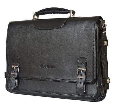 Кожаный портфель Realdo black (арт. 2017-01)