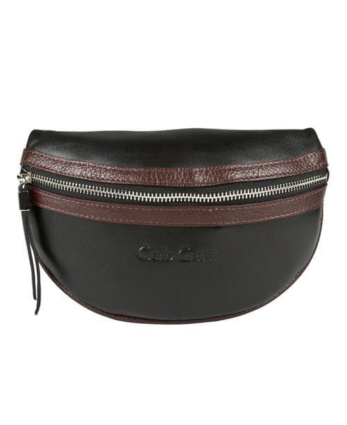 Кожаная поясная сумка Esperita black (арт. 7012-01)