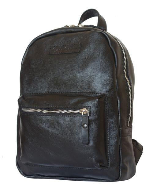 Женский кожаный рюкзак Anzolla black (арт. 3040-01)
